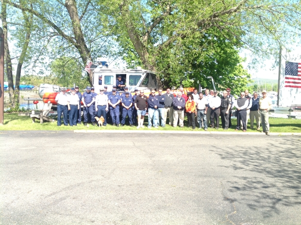 Hudson Valley Marine Trades Association Group Photo at the Haverstraw Marina Boat Show, 2012